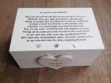Shabby Personalised Chic Father Of The Bride Dad Wedding LARGE Keesake Box